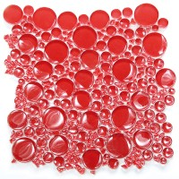 Red Bubbles Glossy