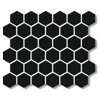 Porcelain Mosaic Hexagon Black 51x59 Matt