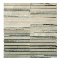 Marble Mosaic Multi Brown Bamboo 15x150