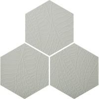3D Hexagon Tile Ashgrey Leaf