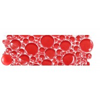 Red Bubbles Border Glossy
