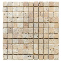 Travertine Giallo 25x25 Tumbled