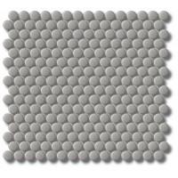 Porcelain Mosaic Penny Round D20 Grey Matt