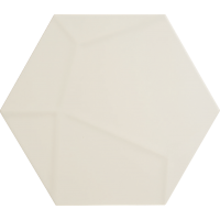 ITALIAN Ceramic Hex White Veins