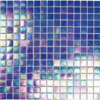 Pool Glass Blue Dark 20x20 Flicker