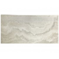 Landstone Porcelain Step Travertine Silver