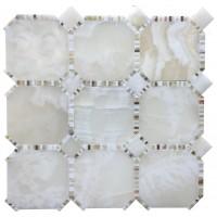 Waltz Mosaic White Onyx Octagon
