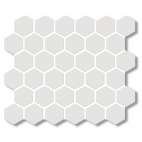 Porcelain Mosaic Hexagon White 51x59 Matt