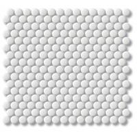 Porcelain Mosaic Penny Round D20 White Matt
