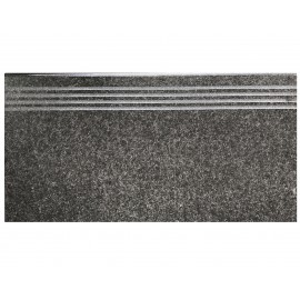 20mm Porcelain Paver Bullnose Step 600x300  - Graphite